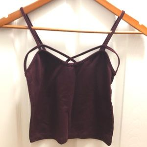 Plumb purple crop tank top cut out Forever 21.